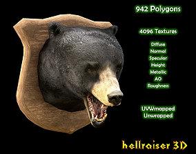 Bear Head - PBR - Textured 3D model