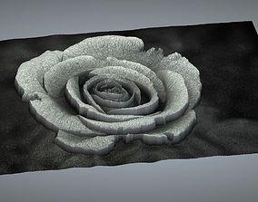 3D cncmodel rose relief