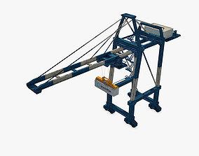 Port Container Crane 3D asset low-poly