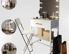 Makeup table furniture 3D model