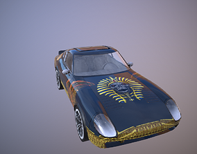 3D model pharaoh car ready for game