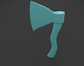 Scanned Old Soviet Large AXE 3D Print Model
