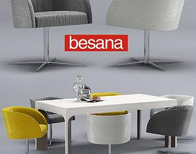 Besana soul-thea table-chair 3D model
