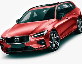 3D Volvo R-Design V60 2019