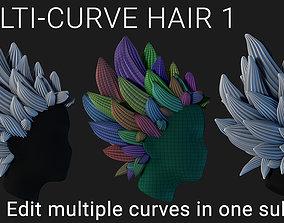 Multi-Curve Hair 1 3D