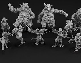 3D printable model Nurgoblin complete team