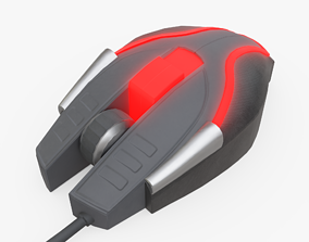 Computer Mouse 3D model low-poly