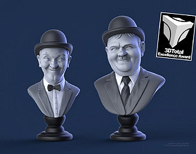 laurel and hardy 3D print model