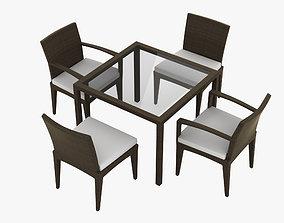 3D model Dedon Panama Dining Set