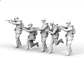 3D printable model Soviet soldiers