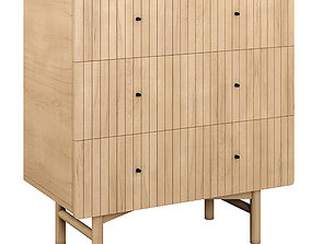 Chest of 3 drawers Groove 3D asset