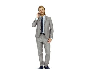 3D model Business Man Talking on the Phone