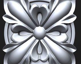 3D printable model Carved Rosette decor element 04