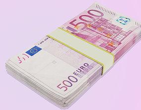 3D asset Euro Bills