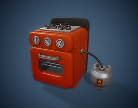 Stylized Oven - Tutorial Included 3D asset