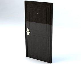 3D model Hotel Room Door with Numbers