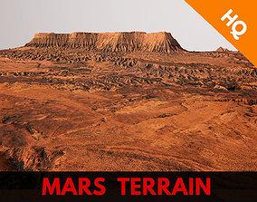 3D model Mars Planet Landscape Desert Terrain Valley 2