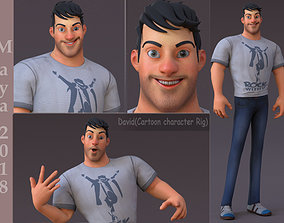 David Cartoon character Rig 3D