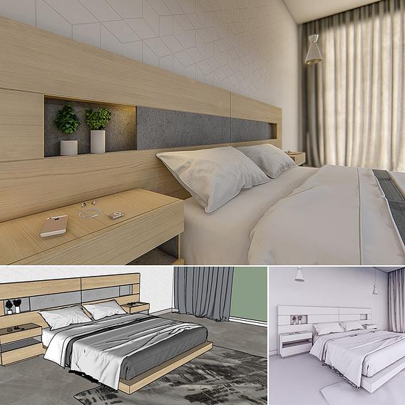 Bed - 3dnikmodels