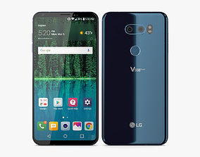 LG V30s ThinQ Maroccan Blue 3D model