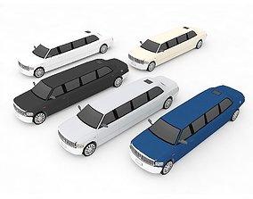 3D asset limousine