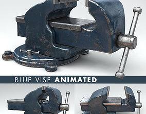 VISE BLUE ANIMATED 3D model