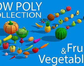 3D model Low Poly Collection - Fruits And Vegetables