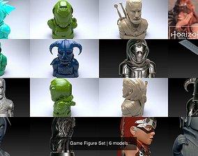 3D Game Figure Set