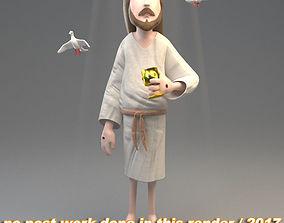 3D Jesus - dove - graal