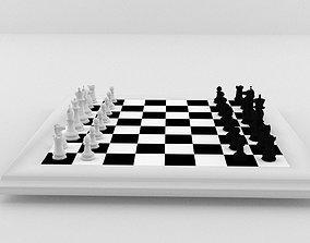 Chess Board 3D asset