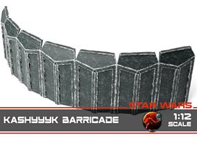 3D printable model Kashyyyk barricade 1-12 scale
