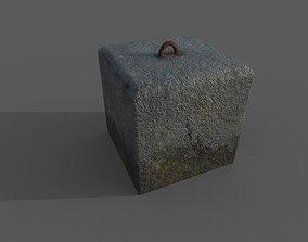 Concrete Barrier Type 9 3D asset