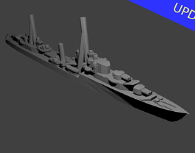 British Tribal Class Destroyer Warship 3D printable model