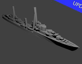 3D print model British Tribal Class Destroyer Warship