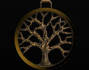 silver Tree Of Life Pendant 3D print model