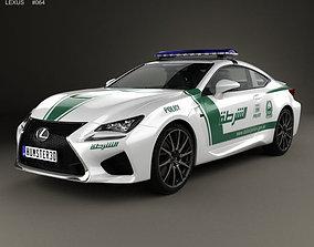 3D Lexus RC F Police Dubai 2015