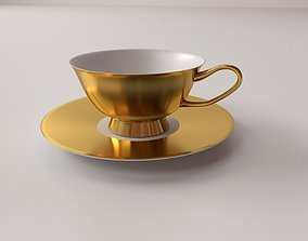 Cup and Saucer v2 3D model