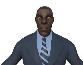 Black Professional Guy 3D asset