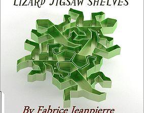 3D printable model Escher lizard shelf furniture