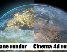 Planet Earth 3D model sphere