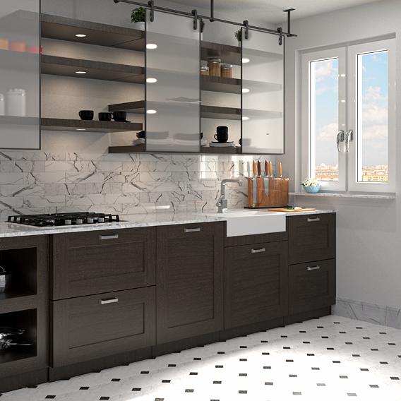 Kitchen Carrara wall ceramic decor classic