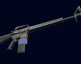 3D asset M16A1 Automatic Rifle