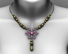 pendant 3D model low-poly Necklace