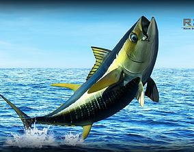 Yellowfin Tuna Fish 3D model