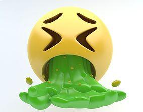3D asset EMOJI vomiting