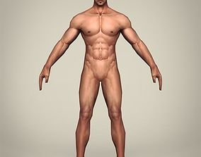 3D asset Game Ready Realistic Man