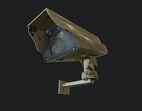 3D model animated Security Camera