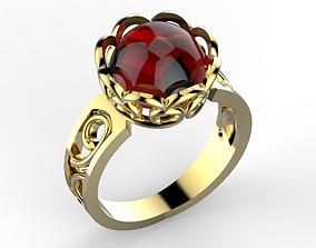 3D printable model Red garnet ring