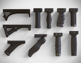 Foregrip Attachments Pack - Vertical - Angled - 3D model 2