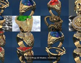 Best 10 Rings 3D Models fashion-and-beauty jewelry
